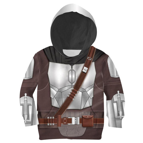 Kids The Mandalorian Din Djarin Cosplay Hoodies Boys Girls Long Sleeve Casual Pullover Sweatshirt