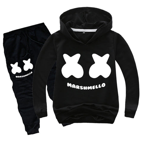 Boys Youth DJ Marshmello Hoodies Set Pullover Cool Sweatshirt Hoodie Pants Sets