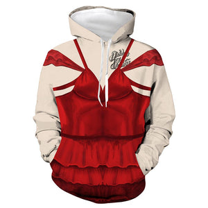 Unisex The Suicide Squad Hoodies Harley Quinn Cosplay Hooded Sweatshirt Casual Pullover Streetwear