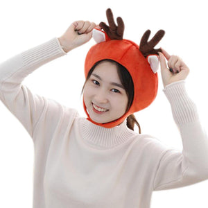 Christmas Winter Hat Reindeer Hats Lined Plush Earflap Winter Warm Cap