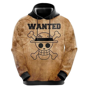 Unisex Anime One Piece Hoodies Cosplay Hooded Sweatshirt Casual Streetwear Pullover Hoodie