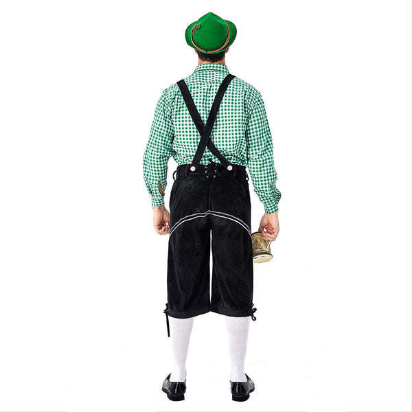 Men's German Bavarian Oktoberfest Costume Set for Halloween Dress Up Party and Beer Festival