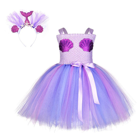 Baby Girls Party Dress Little Mermaid Princess Dress Kids Cosplay Costume Tutu Girls Dresses Ball Gown