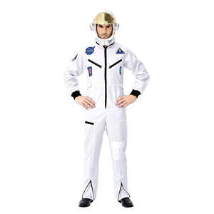 Men's Astronaut Costume Spaceman Suit Halloween Adult Costumes Funny Cosplay Party Stage Performance