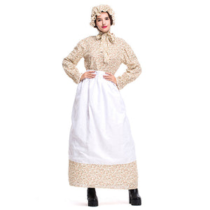 Women's Maternal Grandmother Costume Deluxe Halloween Wolf Granny Cosplay Outfit