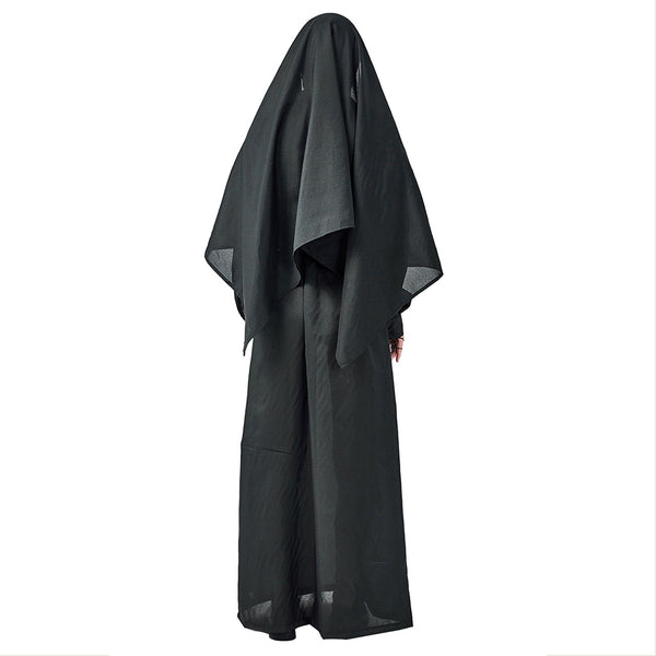 Halloween Cosplay Horror Bloody Nun Pastor Uniform Missionary Clothing Irregular Long Skirt Zombie Costumes