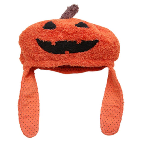 Adults Kids Halloween Pumpkin Knitted Cap Hat Photo Props Fancy Gifts