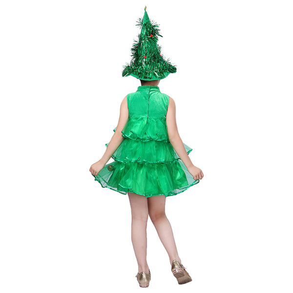 Kids Baby Girls Christmas Tree Costume Dress
