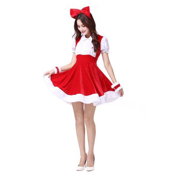 Women Santa Claus Christmas Costume Fancy Dress