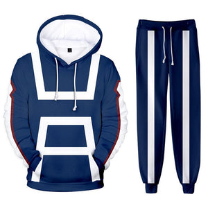 Unisex My Hero Academia Hoodie Pants Set UA Training Suit Cosplay Costume 3D Print Sweatshirt Outfits