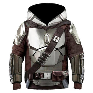Kids The Mandalorian Hoodies 3D Printed Hooded Sweatshirt Boys Girls Casual Streetwear Pullover Hoodie