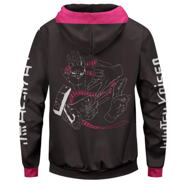 Unisex Anime Jujutsu Kaisen Hoodies Cosplay Hooded Sweatshirt Casual Streetwear Zip Up Hoodie