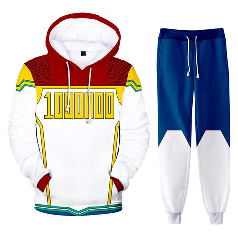 Unisex My Hero Academia Hoodie Pants Set Million Cosplay Costume 3D Print Sweatshirt Outfits