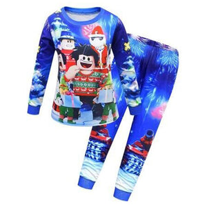 Kids Clothing Sets Baby Boys Toddler Roblox Sleepwear Kids Nightwear Pajamas Set Girls Cartoon Pajamas