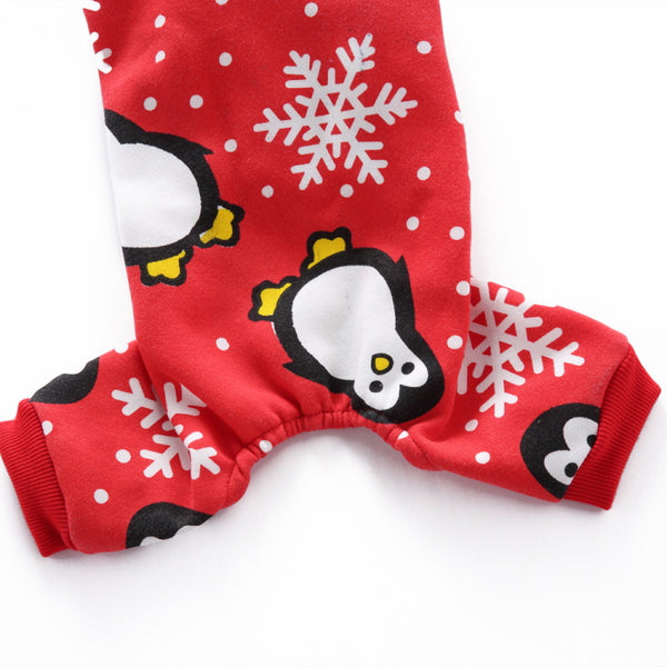 Christmas Snowflake Penguin Dog Costumes Holiday Halloween Christmas Pet Clothes Soft Comfortable Dog Clothes