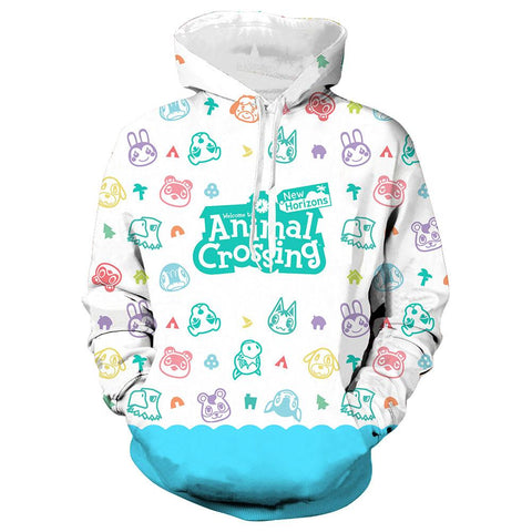 Unisex Game Animal Crossing Long Sleeve Thin Coat Hoodie Men Women Pullover Sweatshirt Hoodies