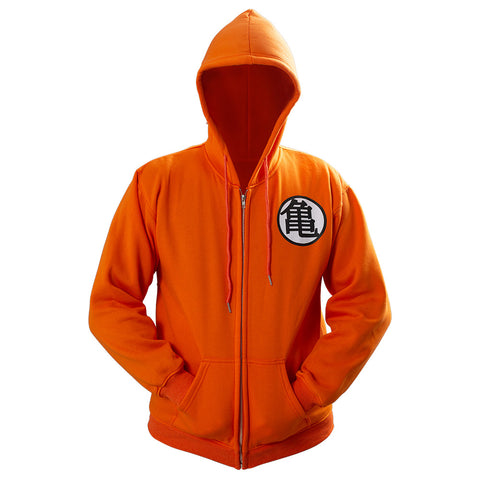 Unisex Dragon Ball Z Son Goku Kame Symbol Cosplay Hoodie 3D Printed Sweatshirt Men Women Casual Zip Up Streetwear