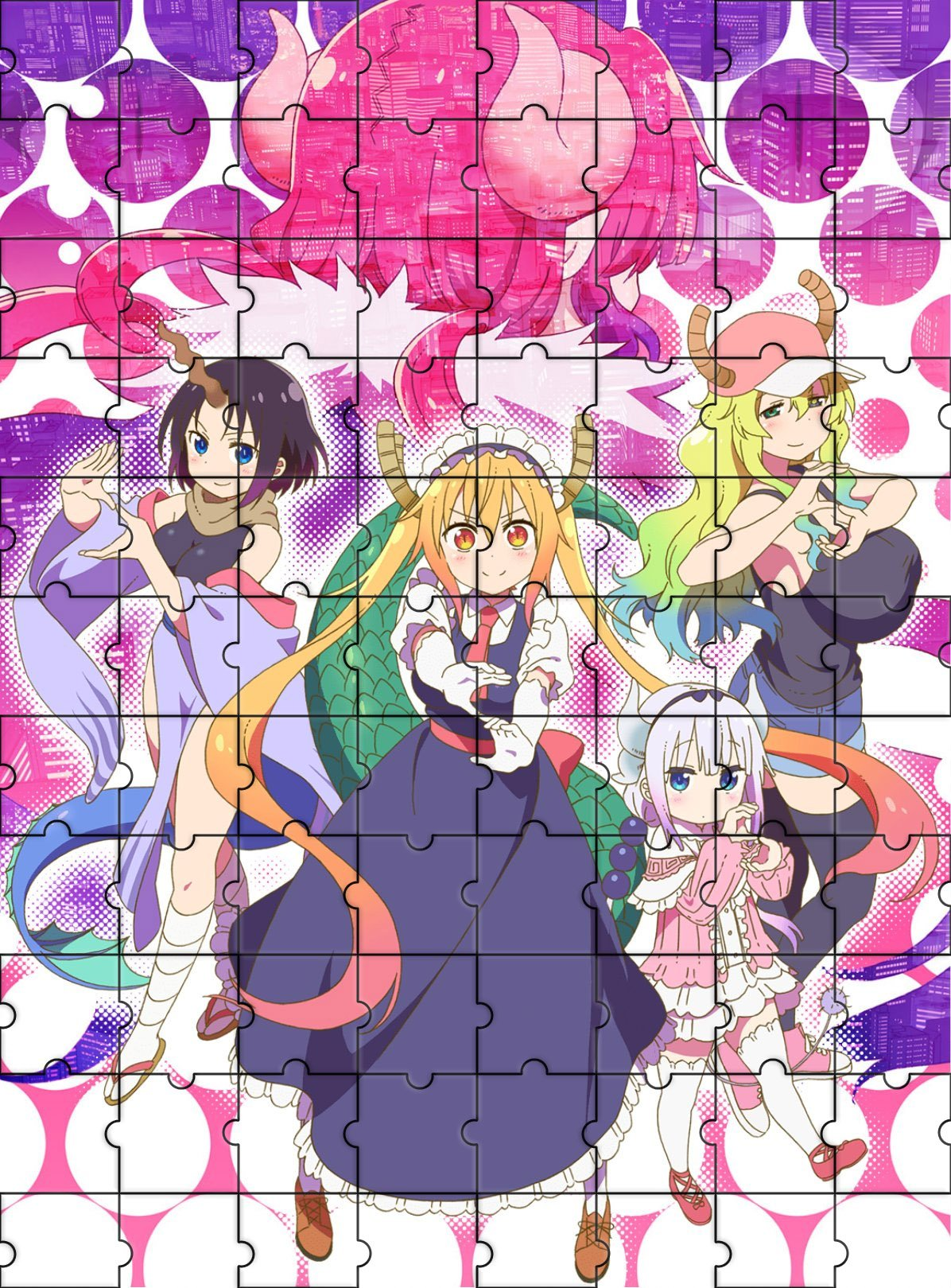 Miss Kobayashi's Dragon Maid 500/1000 Pieces Puzzle Jigsaw Toys Kids Adults Educational Intellectual Decompressing Fun Family Game