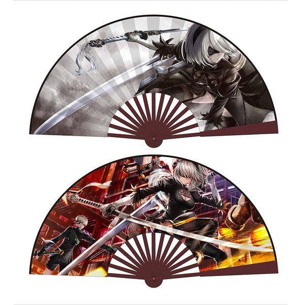 Japanese Anime Fan Art Collection Folding Hand Fan Handheld Fan Festival Gift Fan Craft Fan Folding Fan