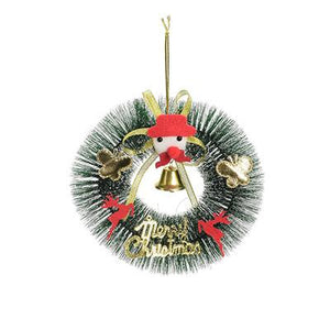 Christmas Decoration Pine Needle Wreath Rings Door Decor Pine Garland Home Decoration