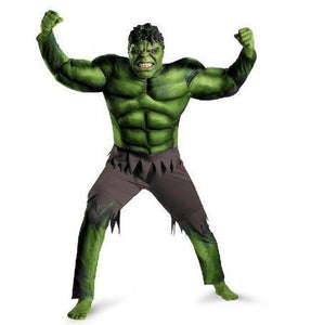 Men's Halloween Superhero Hulk Cosplay Costume Fancy Dress