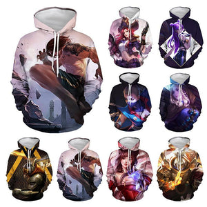 Unisex Game League of Legends LOL Hoodies Cosplay Hooded Sweatshirt Casual Streetwear Pullover Hoodie