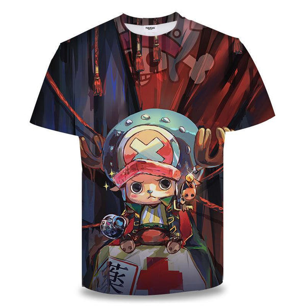 Unisex Anime One Piece T-shirt Roronoa Zoro Printed 3D Printing Short Sleeve Spring T-shirt Tops