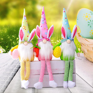 Long Legs Easter Egg Rudolf Doll Rabbit Elf Bunny Easter Gift Kids DIY Happy Easter Party Decor For Home