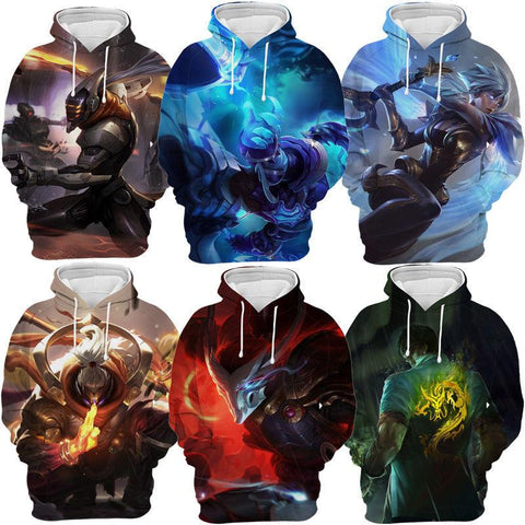 Unisex Game League of Legends LOL Printed Hoodies Cartoon Harajuku Sweatshirt Pullover Graphic Hoody