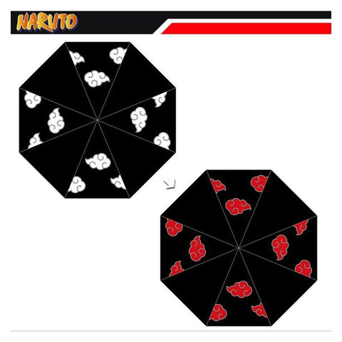 Anime NARUTO Color Changing Umbrella Portable Light Weight Windproof UV Protection Big Straight Umbrella