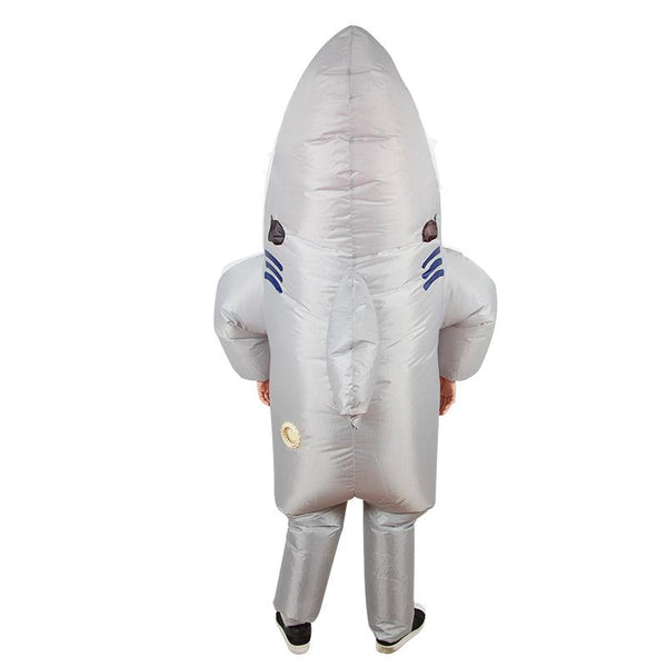 Adults Halloween Inflatable Cartoon Shark Cosplay Costume