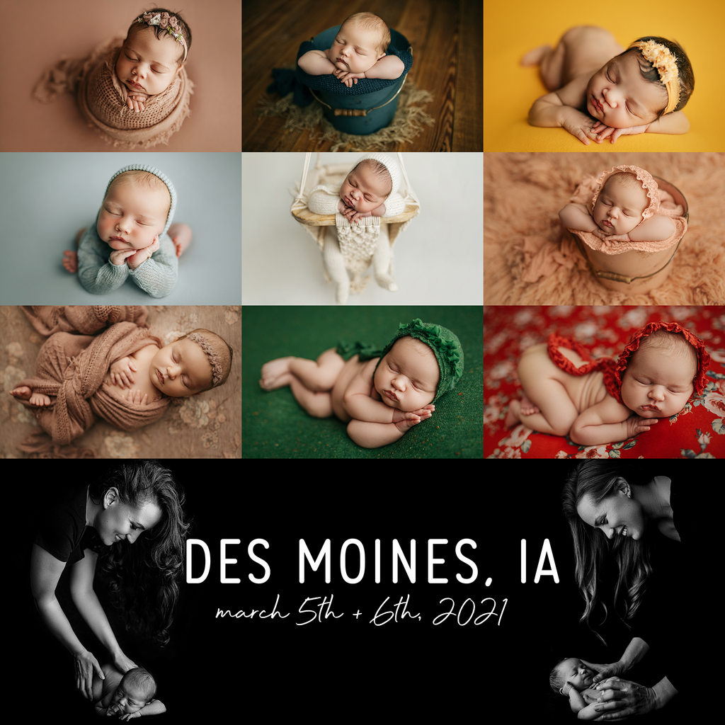 Des Moines, IA Newborn Nerds Workshop March 2021 - RETAINER FEE