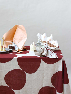 Pebble Tablecloth - Wine  by Mosey Me