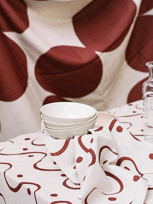 Pebble Napkin Set - Wine  by Mosey Me