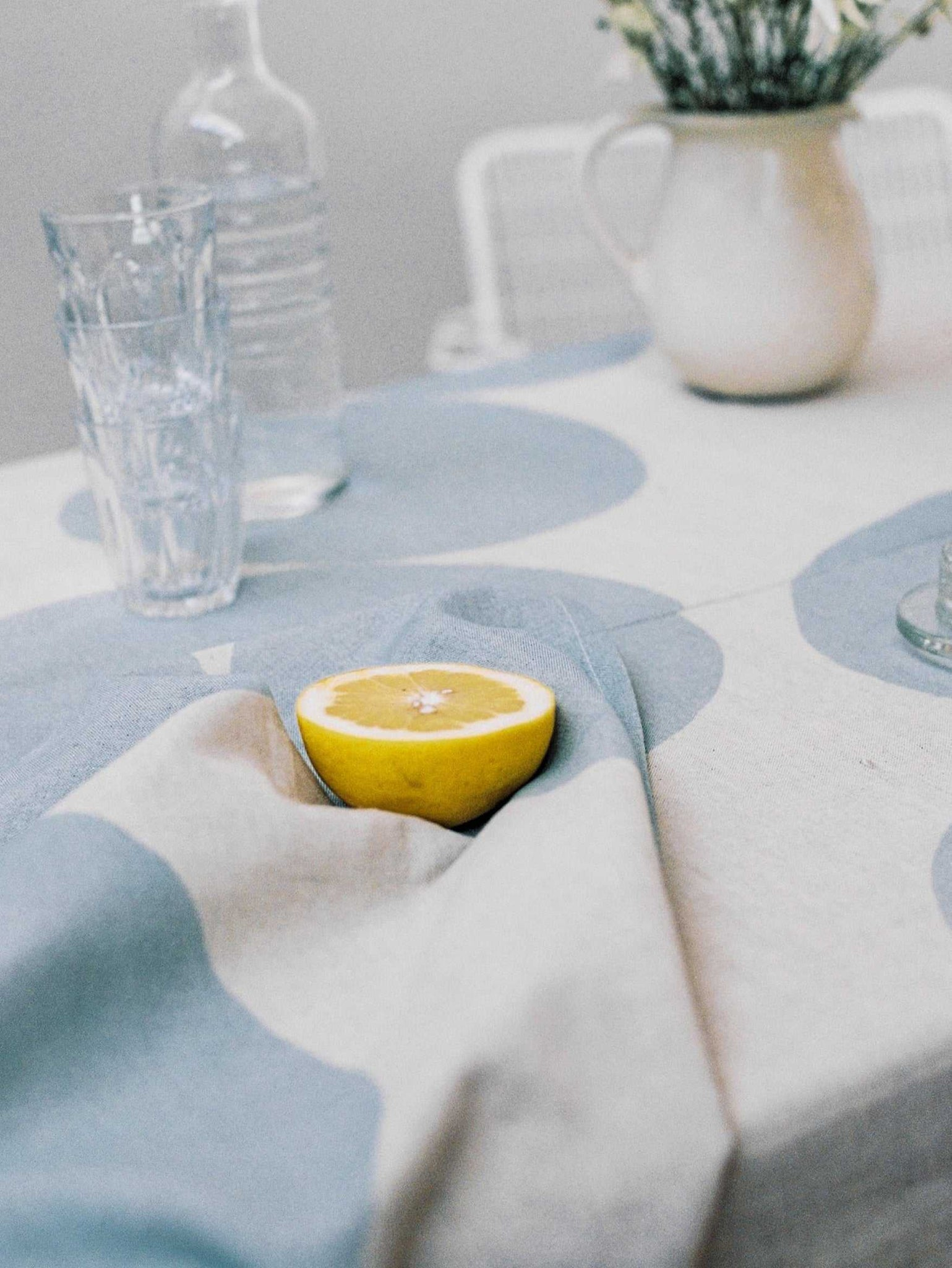 Pebble Tea Towel - Blue  by Mosey Me