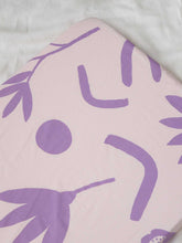 Load image into Gallery viewer, Floral Dreams Fitted Cot Sheet - Lilac  by Mosey Me