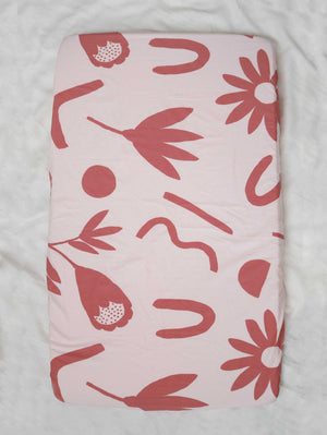Floral Dreams Fitted Cot Sheet - Musk  by Mosey Me