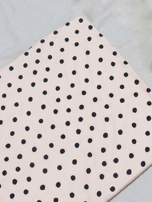 Dot Fitted Cot Sheet - Blush  by Mosey Me