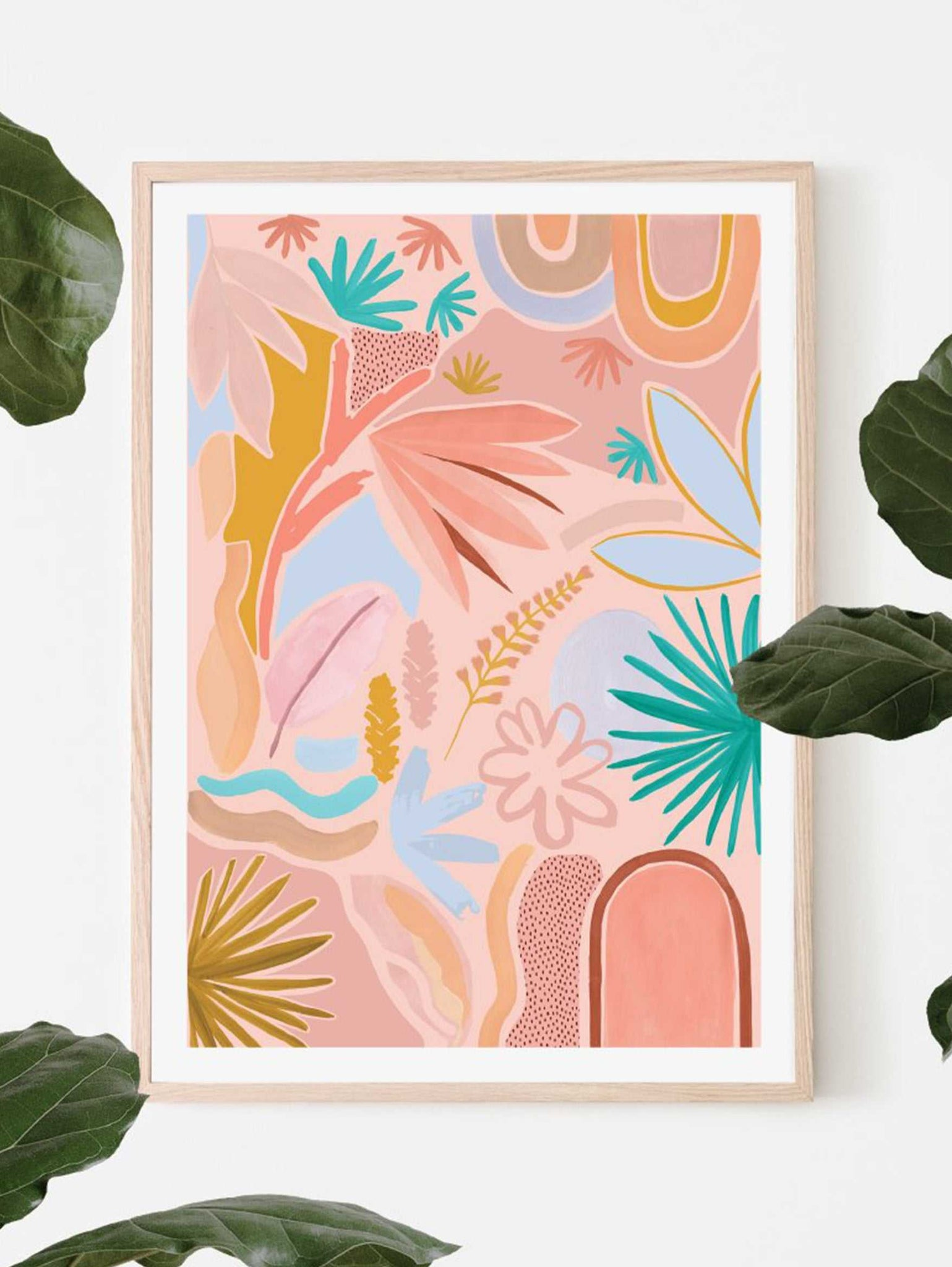 Desert Art Print - Coral  by Mosey Me