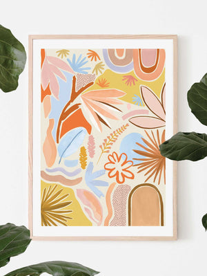 Desert Art Print - Cream  by Mosey Me