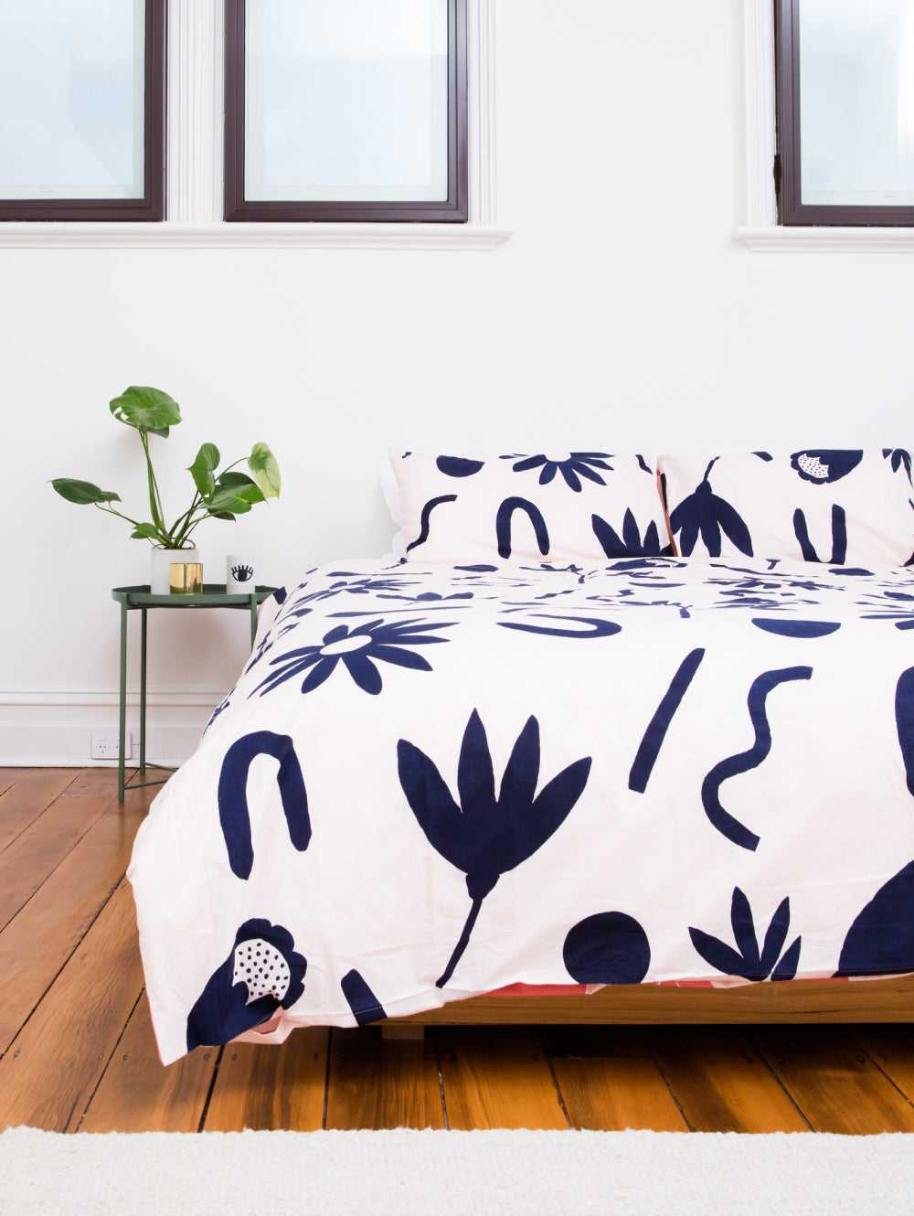Floral Dreams Quilt Cover Ink & Musk  by Mosey Me