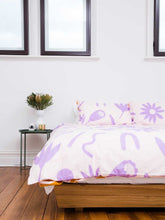 Load image into Gallery viewer, Floral Dreams Quilt Cover Lavender & Mustard  by Mosey Me