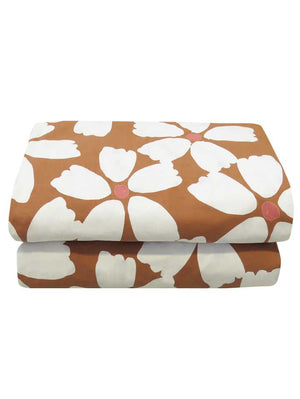 Full Bloom Quilt Cover Set in Toffee & Cream  by Mosey Me