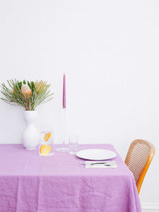 Linen Tablecloth - Grape  by Mosey Me