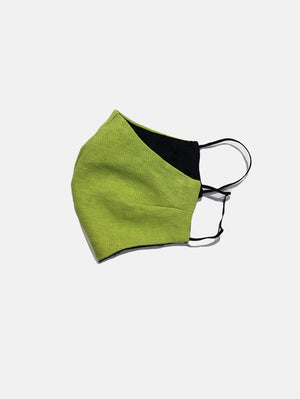 Reusable Face Mask - Lime Linen  by Mosey Me