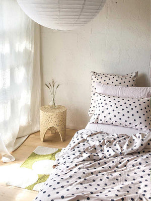 Dot Flat Sheet - Blush  by Mosey Me