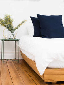100% Linen Euro Pillowcases  by Mosey Me