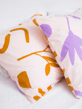 Load image into Gallery viewer, Floral Dreams EURO Pillowcase set Lavender & Mustard