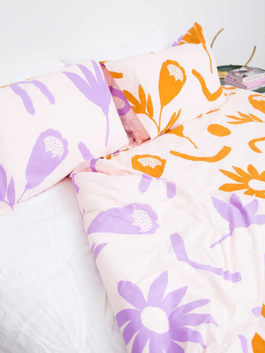 Floral dreams Pillowcase set Lavender & Mustard