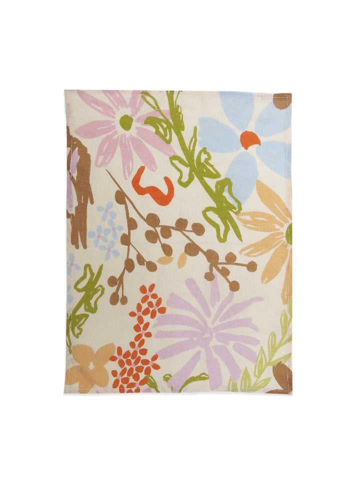 The Garden Linen Tea Towel  by Mosey Me